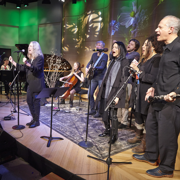 with patti smith and others at the greene space