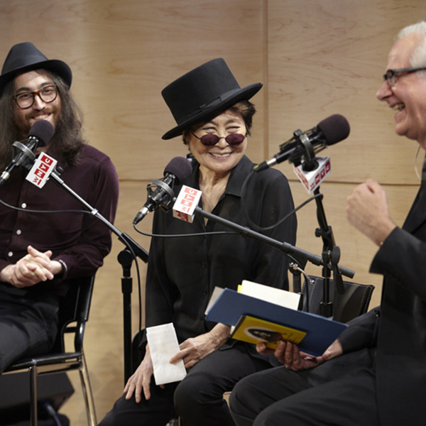 with sean lennon and yoko ono